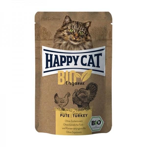 Happy Cat Bio Pollo e Tacchino Adult Umido per Gatti