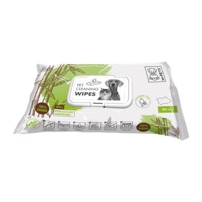 M-Pets Salviette Biodegradabili in Bamboo 40 pz