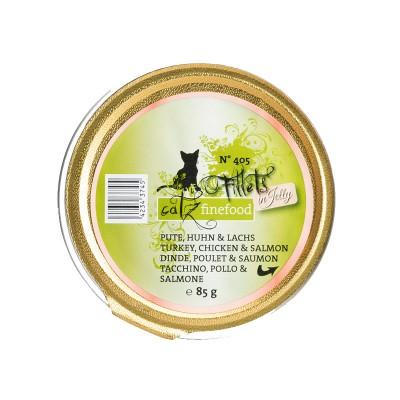 Pets Nature Tacchino, Pollo e Salmone Jelly Catz Finefood Fillets N°405 Umido per Gatti