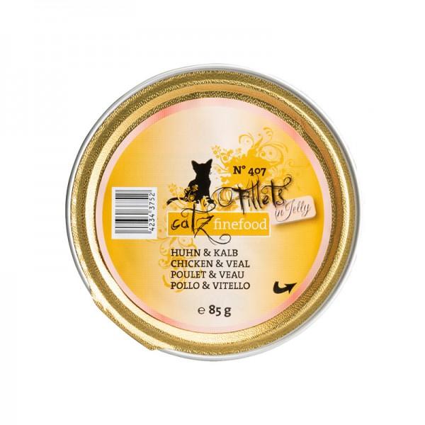 Pets Nature Pollo e Vitello Jelly Catz Finefood Fillets N°407 Umido per Gatti