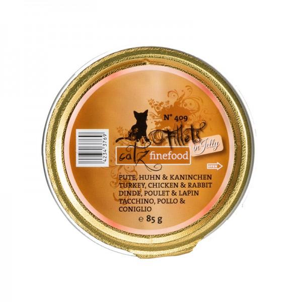 Pets Nature Tacchino Pollo e Coniglio Jelly Catz Finefood Fillets N°409 Umido per Gatti