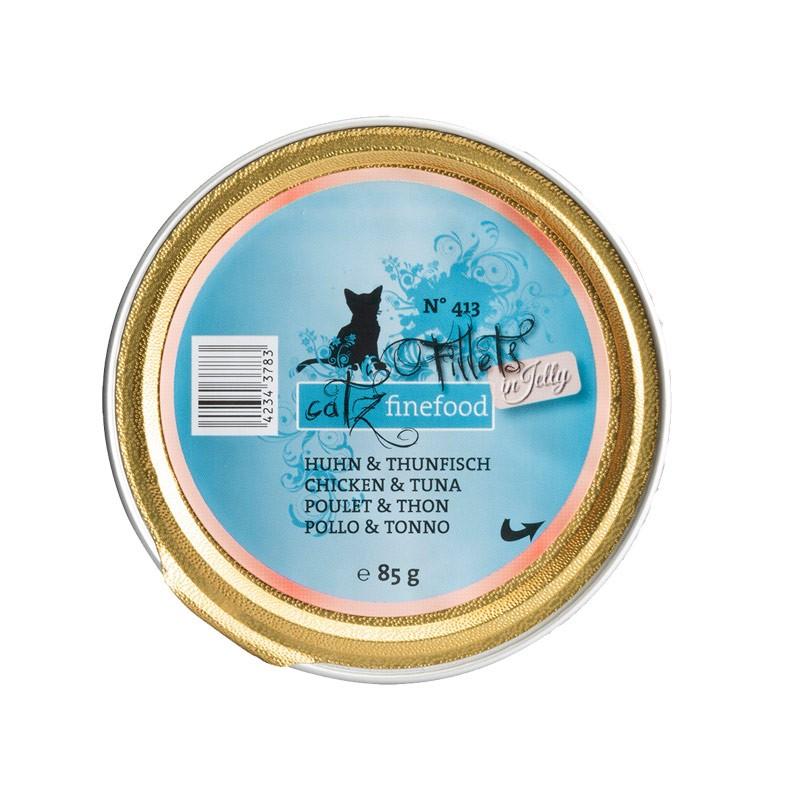 Pets Nature Pollo e Tonno Jelly Catz Finefood Fillets N°413 Umido per Gatti