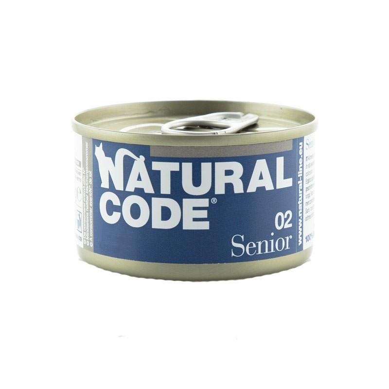 Natural Code Senior Tonnetto e Riso per Gatti 85gr