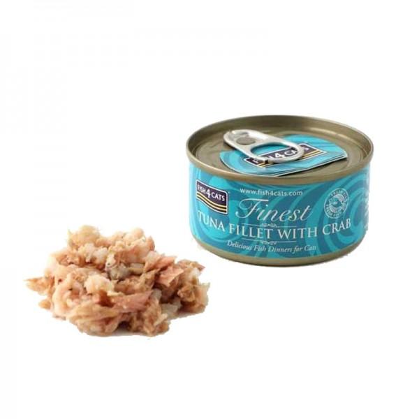 Fish4Cats Finest Sgombro e Gamberetti Umido per Gatti