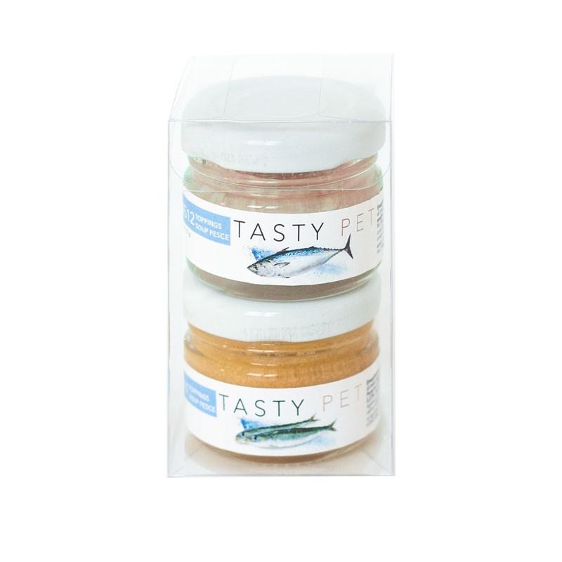 Tasty Pet Fumetto di Pesce Toppings Soup per Cani