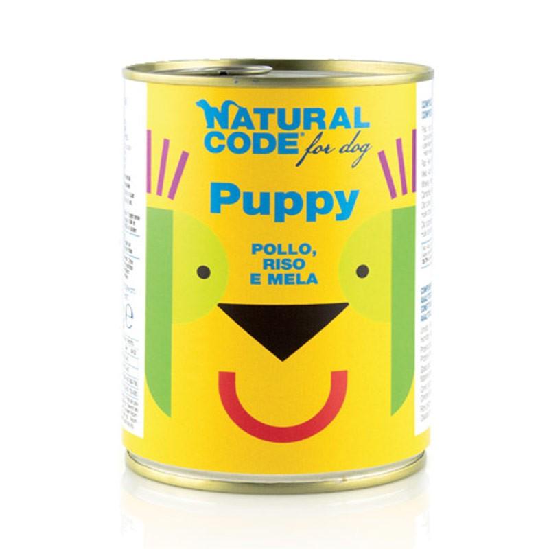Natural Code Puppy Pollo, Riso e Mela per Cani 400gr
