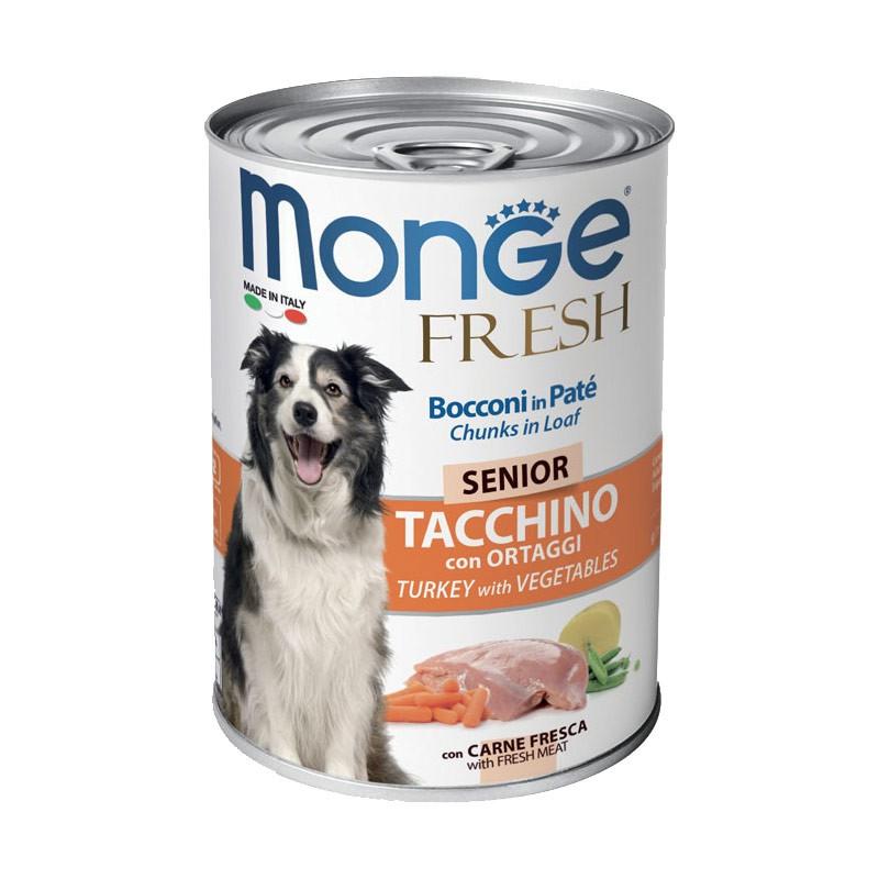 Monge Fresh Senior Tacchino Umido per Cani