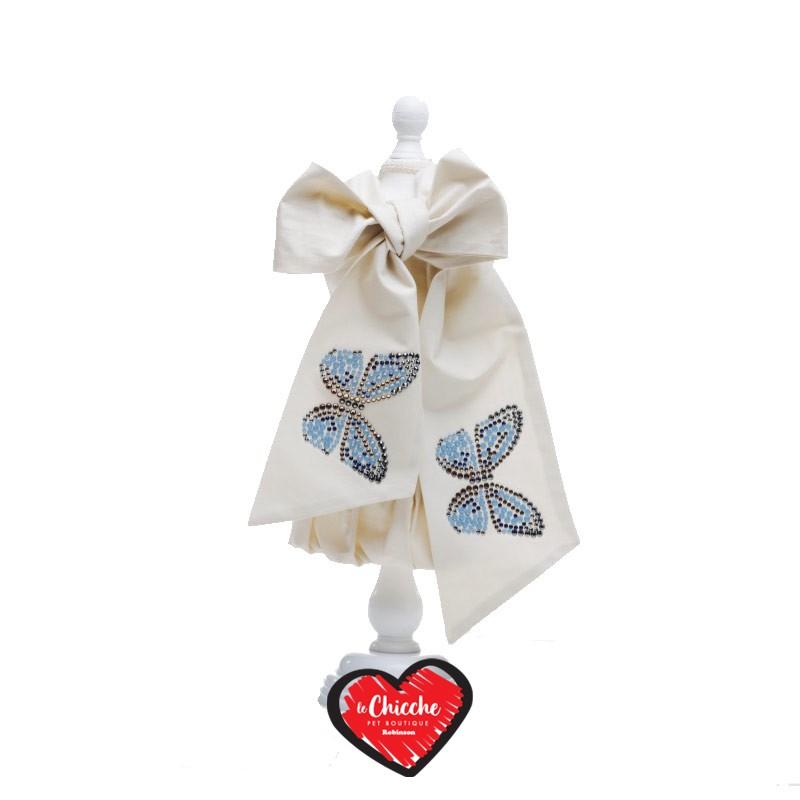 Inamorada Vestitino The Butterflies Dress Beige