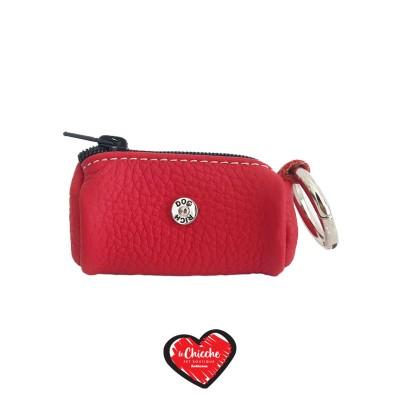 Rich Dog Borsellino Porta Sacchetti Colore Rosso