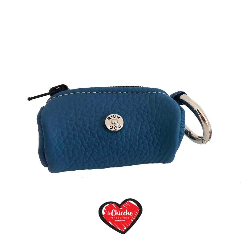 Rich Dog Borsellino Porta Sacchetti Color Violet Blue