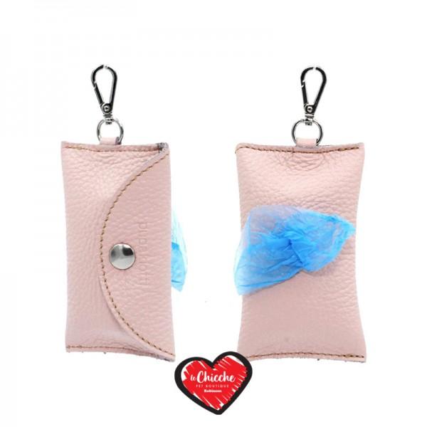 Pupakiotti Basic Pocket Porta Sacchetti in Pelle Rosa Baby
