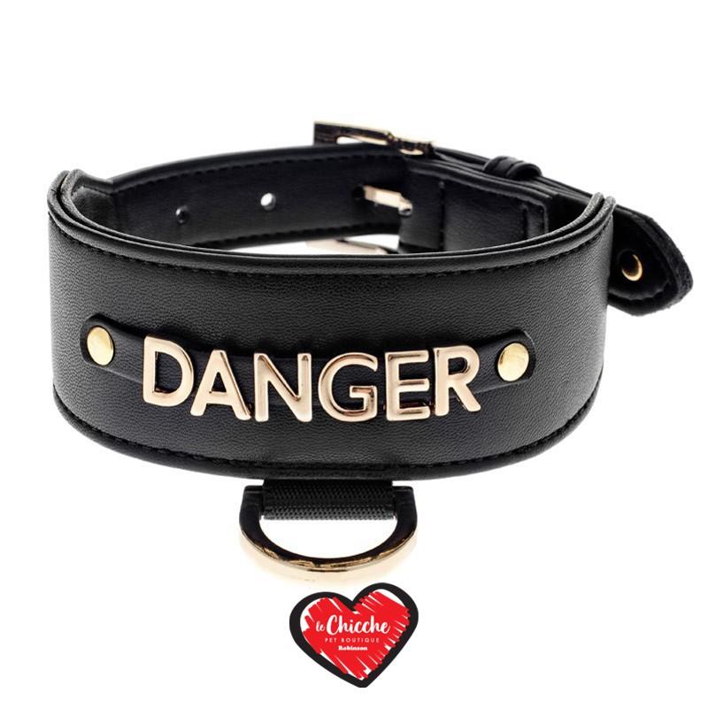 Ferribiella Le DangeRouge Collare Levriero Danger Nero