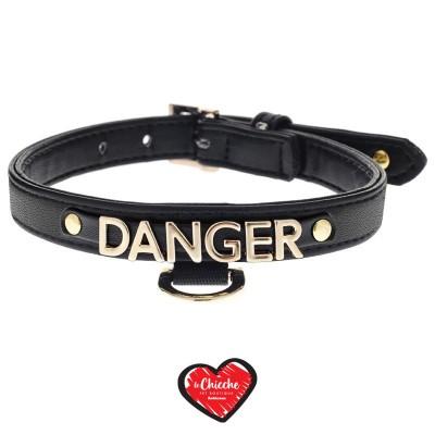 Ferribiella Le DangeRouge Collare Danger Nero per Cani