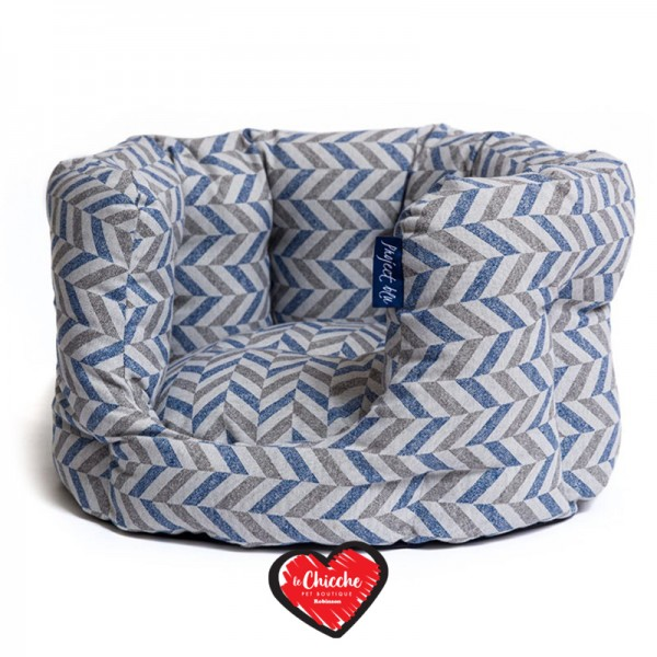 Leopet Cuccia Softy Blu Recycled Delta Collection