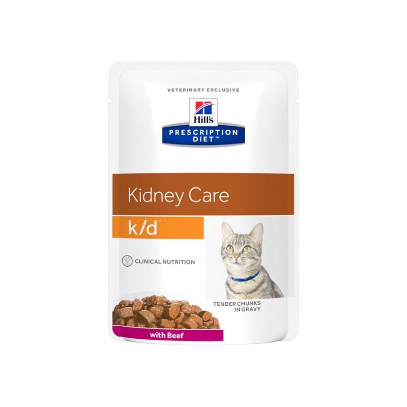 Hill's k/d con Manzo Prescription Diet Feline Umido
