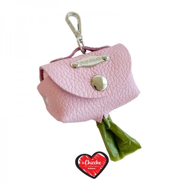Pupakiotti Borsina Porta Sacchetti in Pelle Rosa Baby