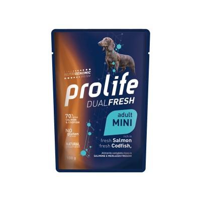 Prolife Dual Fresh Salmone e Merluzzo Adult Mini Umido