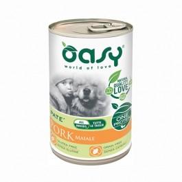 Oasy Umido Monoproteico Maiale per Cani 400gr