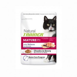 Trainer Natural Gatto Mature Umido al Salmone in Busta