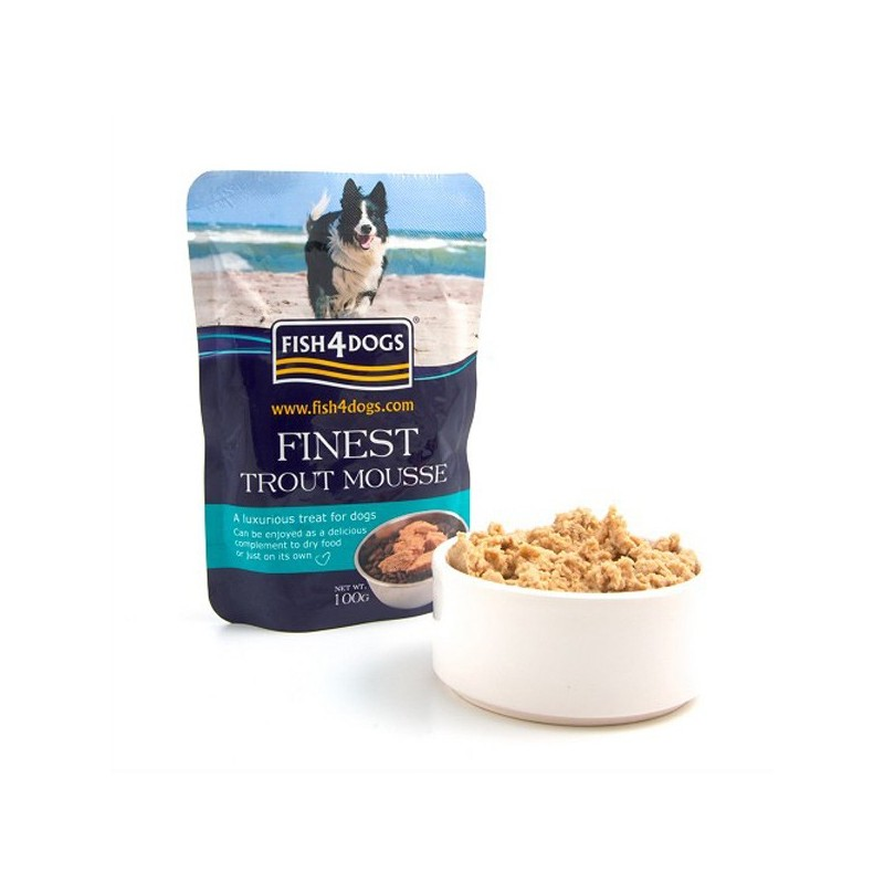 Fish4Dogs Finest Mousse di Trota per Cani 100gr