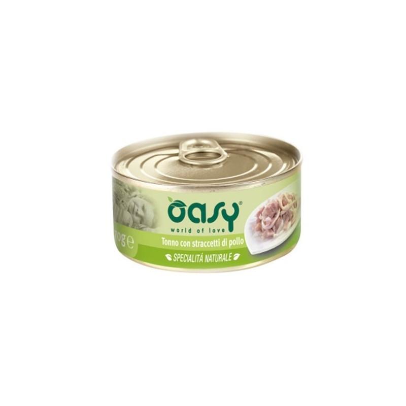 Oasy Natural Adult Tonno e Straccetti di Pollo Umido per Gatti 150gr