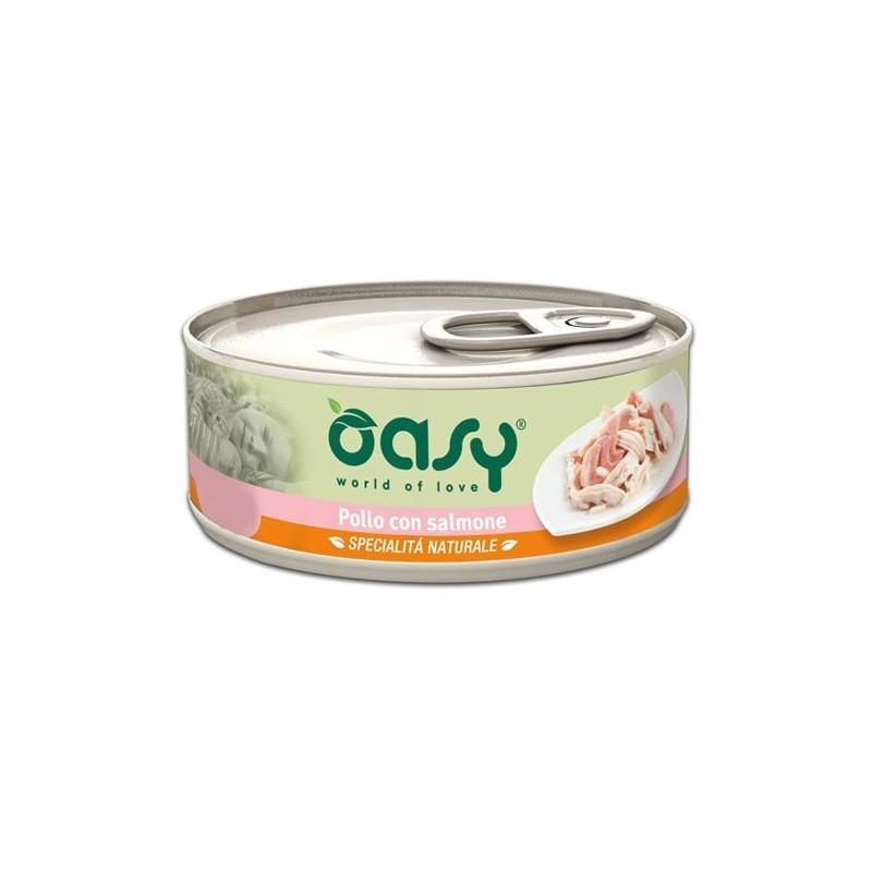Oasy Natural Adult Pollo e Salmone Umido per Gatti 70gr