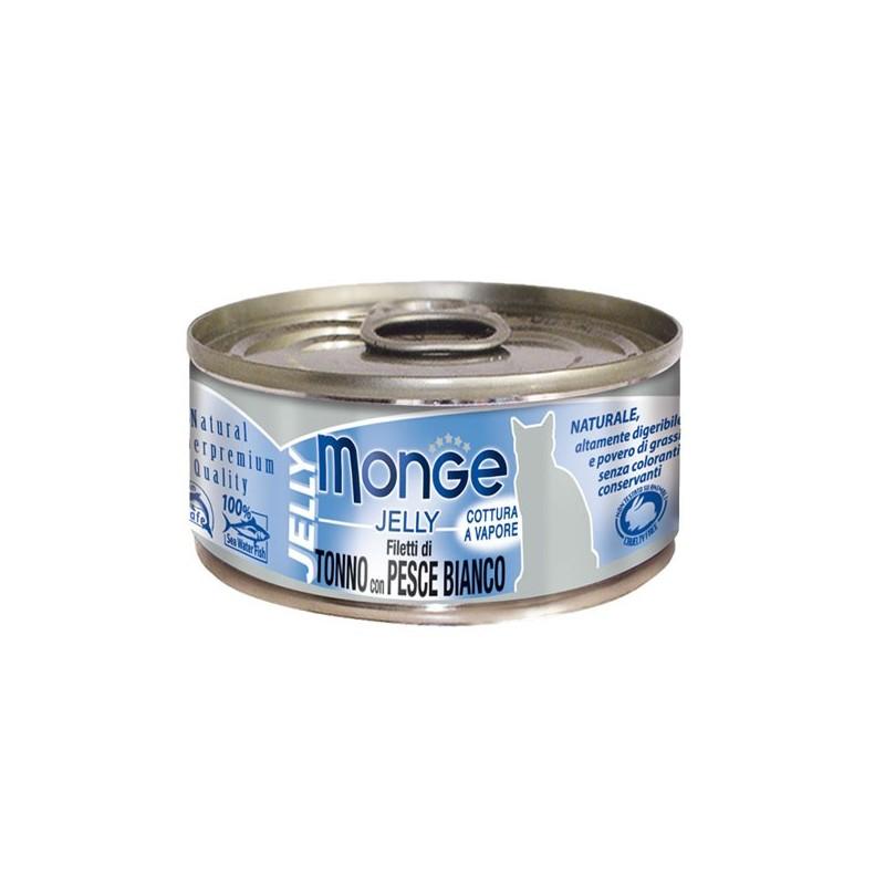 Monge Jelly Fil. Tonno e Pesce per Gatti 80gr