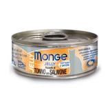 Monge Jelly Tonno Bonito e Salmone per Gatti 80gr
