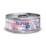Monge Natural Pollo e Gamberetti Umido per Gatti 80gr