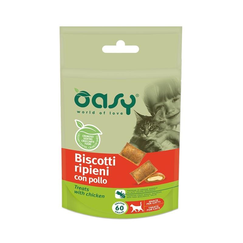 Oasy Biscotti Ripieni al Pollo per Gatto