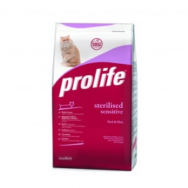 Prolife Sterilised Sensitive Maiale e Riso per Gatti