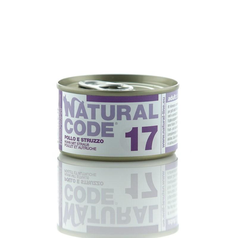 Natural Code Pollo e Struzzo per Gatti 85gr