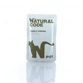 Natural Code Tonno e Verdure in Busta per Gatto