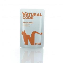 Natural Code Pollo e Zucca in Busta per Gatto