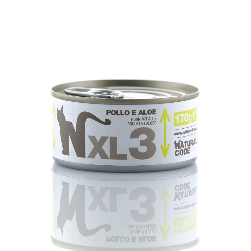 Natural Code XL Pollo e Aloe per Gatti 170gr