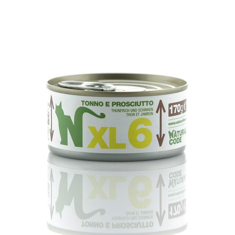 Natural Code XL Tonno e Prosciutto per Gatto
