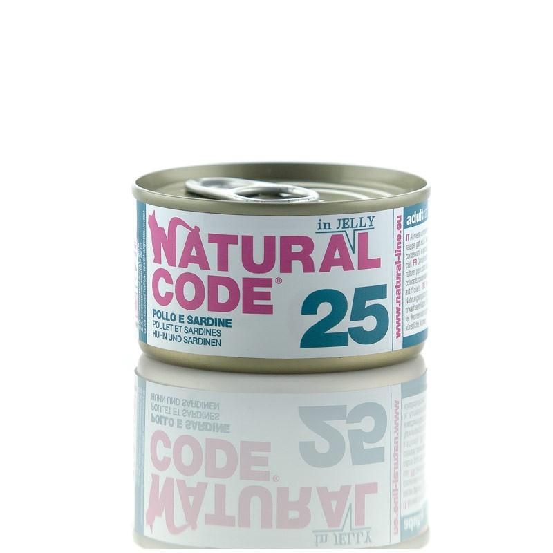 Natural Code Jelly Pollo e Sardine per Gatti 85gr