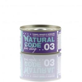 Natural Code Tonno Manzo e Verdure per Cane