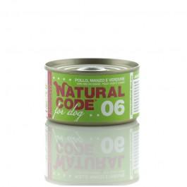 Natural Code Pollo Manzo e Verdure per Cani 95gr