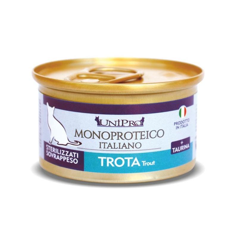 Unipro Monoproteico alla Trota Umido per Gatti 85gr