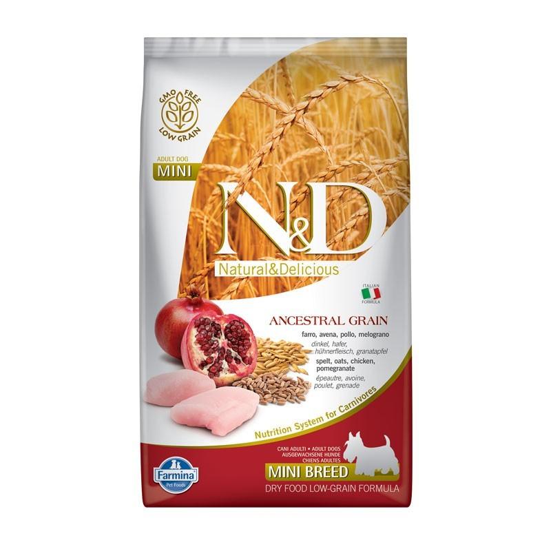 Farmina N&D Low Grain Adult Mini Pollo e Melograno