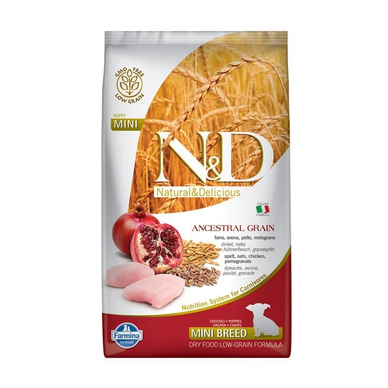 Farmina N&D Low Grain Puppy Mini Pollo e Melograno
