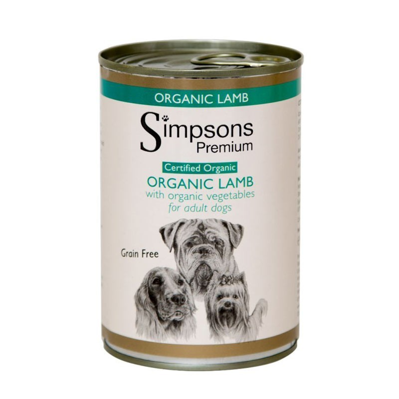 Simpsons Umido all'Agnello Biologico per Cani 400gr