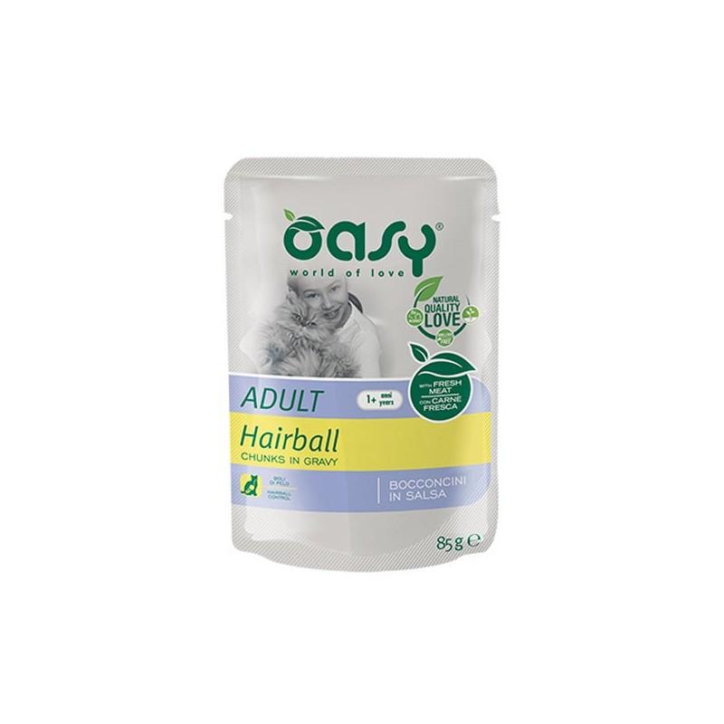 Oasy Bocconcini in Salsa Hairball per Gatti 85gr
