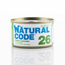 Natural Code Jelly Tonno e Tacchino per Gatto
