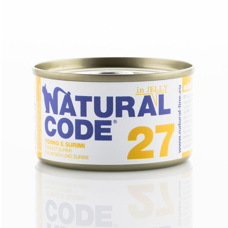 Natural Code Jelly Tonno e Surimi per Gatti 85gr