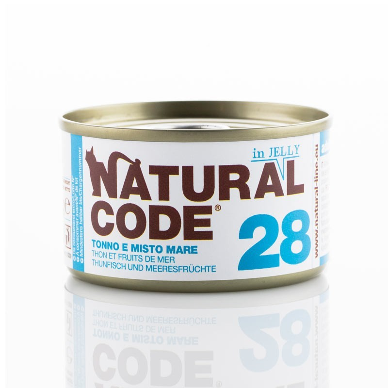 Natural Code Jelly Tonno e Mix Mare per Gatti 85gr