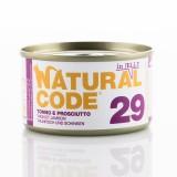Natural Code Jelly Tonno e Prosciutto per Gatti 85gr