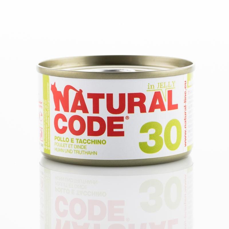 Natural Code Jelly Pollo e Tacchino per Gatti 85gr