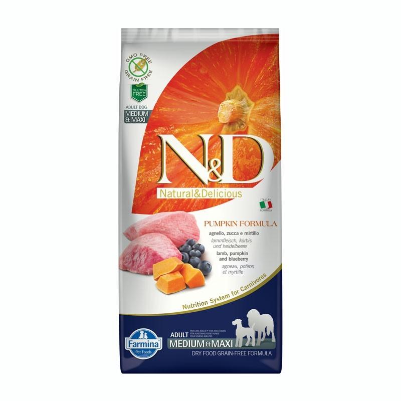 Farmina N&D Pumpkin Adult Medium Maxi Agnello e Mirtillo